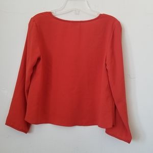 Wilfred Tops - Aritzia Wilfred  Cropped V Neck Blouse,XS